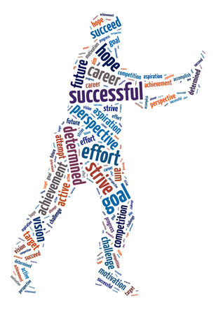 Words illustration of the concept of success and determination Stock Photo