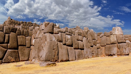 sacred valley of the incas: Stonework of the walls of Sacsayhuaman, in Cusco, Peru