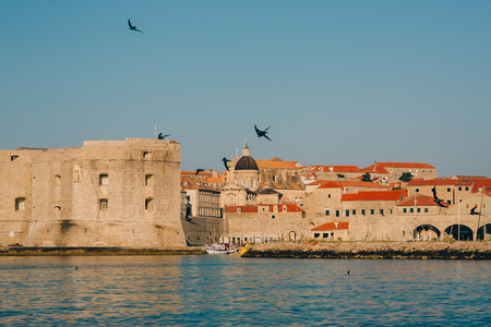 Dubrovnik Old Town, Croatia. Inside the city, views of streets and houses. Photos inside the city. Imagens