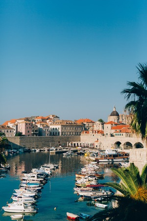 Dubrovnik Old Town, Croatia. Inside the city, views of streets and houses. Photos inside the city. Stock Photo