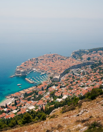 Dubrovnik Old Town view from the observation deck. Croatia.