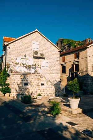 The house with orange tiled roof. Houses in Croatia and Montenegro.