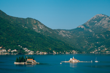 The island of Gospa od Skrpela, Kotor Bay, Montenegro.