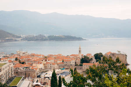 The Old Town of Budva in Montenegro Stock Photo