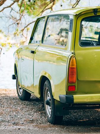 Lazy Yugoslavian retro car in Perast, Montenegro.