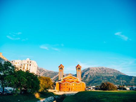 The Catholic Church in Bar in Montenegro Stock Photo
