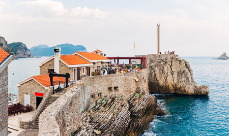 The old town of Petrovac in Montenegro. Coast of the Adriatic Sea.