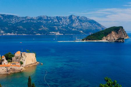 The island of St. Nicholas in Montenegro Фото со стока - 87578046