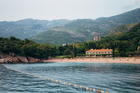 The Queens Beach near Villa Milocer in Montenegro, near the island of Sveti Stefan.