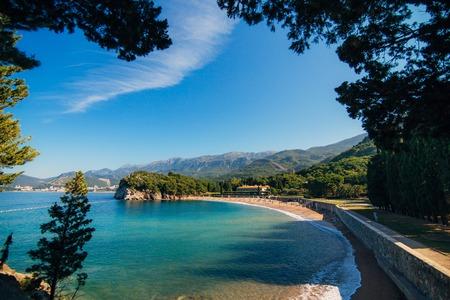 The Queens Beach near Villa Milocer in Montenegro, near the island of Sveti Stefan.