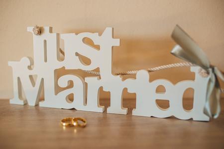 platinum: Wedding rings of the newlyweds. Engagement gold rings. Wedding in Montenegro.