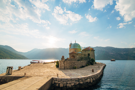 kotor: The island of Gospa od Skrpela in the Boko-Kotorsky Gulf near the town of Perast in Montenegro.