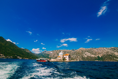 gods: The island of Gospa od Skrpela in the Boko-Kotorsky Gulf near the town of Perast in Montenegro.