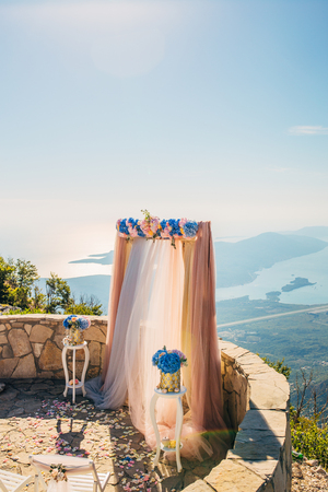 Wedding ceremony in the mountains in Montenegro Фото со стока - 87474375