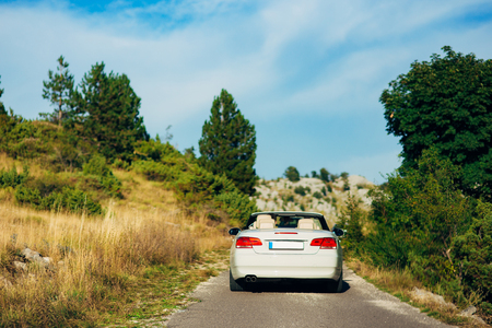 curve road: The car rides on mountain roads in Montenegro