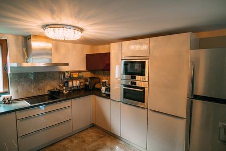 Moderno Estudio Mesa De Cocina Del Apartamento Colección - Ideas ...