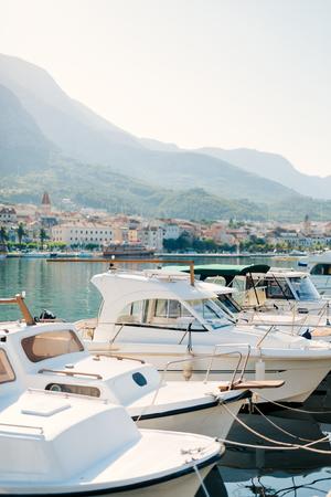 Boat dock, the city of Makarska, Croatia Фото со стока