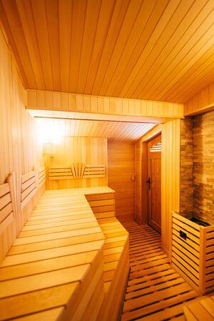 The interior of the classic wooden sauna Reklamní fotografie