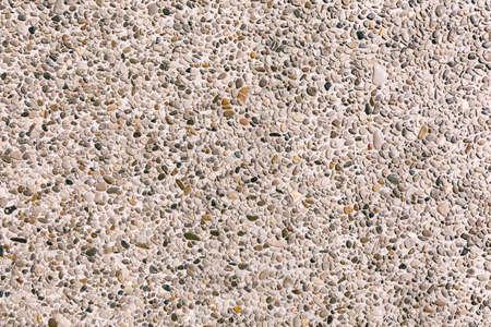 Close-up of decorative large pebble plaster bayramix.