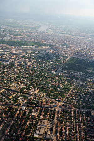 Birds-eye view of the urban development of Budapest