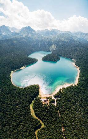 Black Lake in Montenegro, in the Durmitor National Park in Zabljak