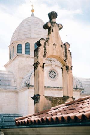 Close-up of the dome of St. James, Sibenik, Croatia