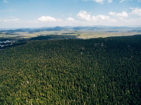Picturesque top view of nature landscape, drone photo