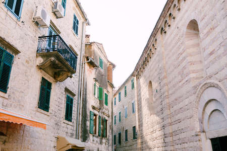 Architecture of a beautiful old town, closeup view