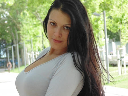 glance: Glance of beautiful woman  Stock Photo