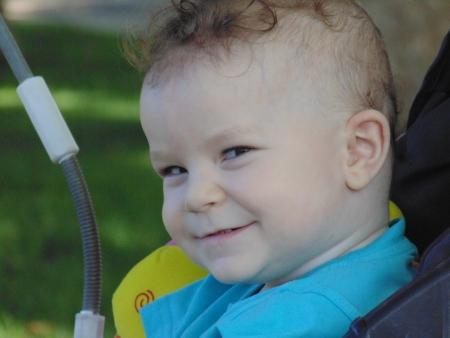 glance: Astute glance of baby  Stock Photo