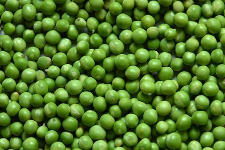 Green peas close up. Background. Standard-Bild