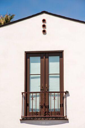 lite: double full lite door on fake balcony