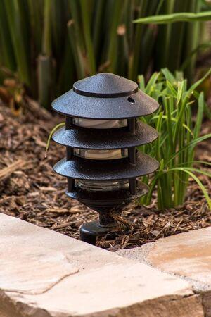 light fixture: garden light fixture black metal ground level