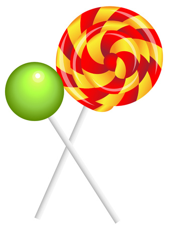 realistic shiny lollipops Imagens - 90458750