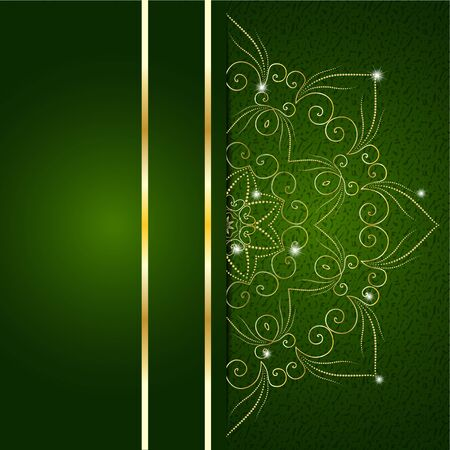 Christmas green card can be used for website decoration Illustration