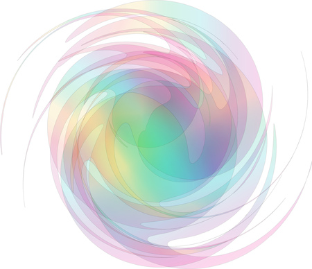 Rainbow abstract whirlpool vector