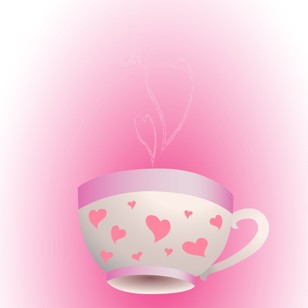 A Cup of aromatic tea or coffee with love