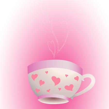 Uma xícara de chá aromático ou café com amor Foto de archivo - 91185426