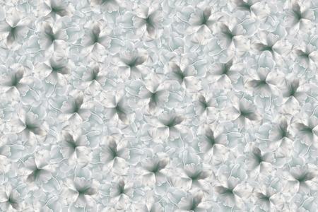 Türkis Blumen Hintergrund. Weiße Große Blumen Kirsche. Blumencollage ...