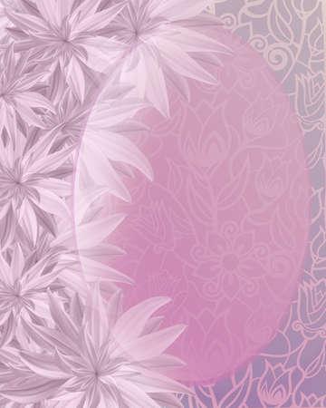 Beautiful pink vertical invitation card with lotus flowers. For wedding, anniversary, birthday. Фото со стока
