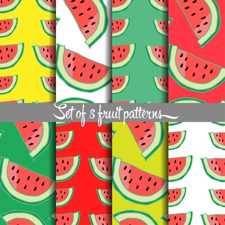 drown: Fruit pattern, hand drown, vector