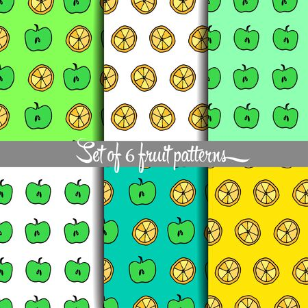 hand drown: Fruit pattern, hand drown, vector