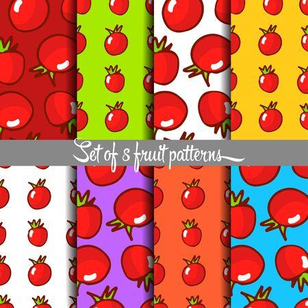 drown: Fruit pattern, hand drown, vector