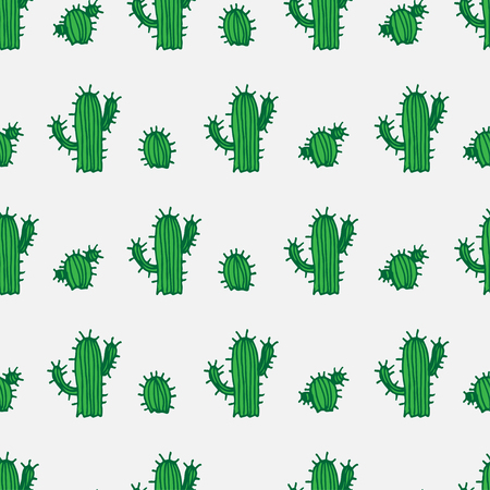 desert cactus: Seamless illustration background pattern with cactus in vector Illustration