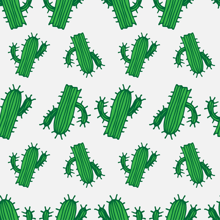 cactus desert: Seamless illustration background pattern with cactus in vector Illustration