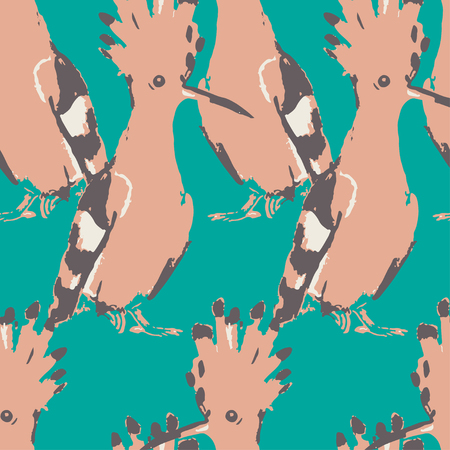 drown: Birds drown seamless pattern. background. Vintage wallpaper. Colorful texture. Illustration