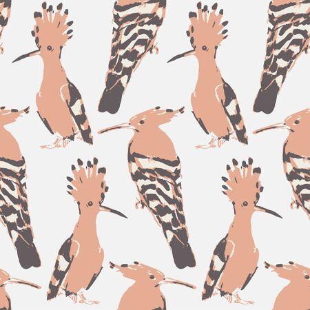 drown: Birds drown seamless pattern. background. Vintage wallpaper.