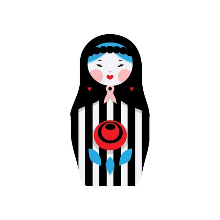 matreshka: Russian dolls - matryoshka and decorative elements for design. Vector illustration. Illustration