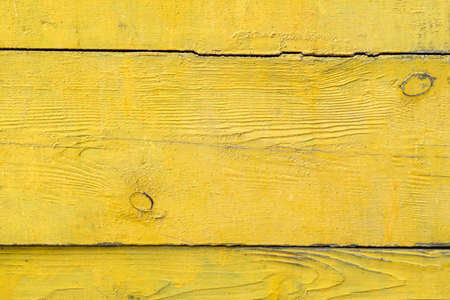 Wood texture background, horizontal old boards yellow old color