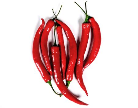 royalty free: Chili peppers heart, Mexican cuisine